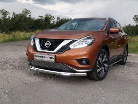 Nissan Murano 2016-Защита передняя нижняя (овальная с ДХО) 75х42 мм